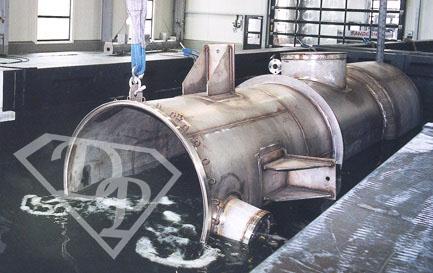 Decapaggio elettrochimico acciaio inox - vasca