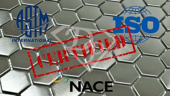 Normative Test Passivazione Inox ASTM ISO NACE