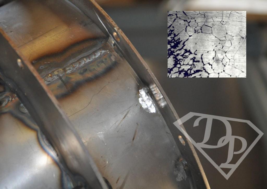 Sensibilizzazione corrosione intergranulare decapaggio passivazione