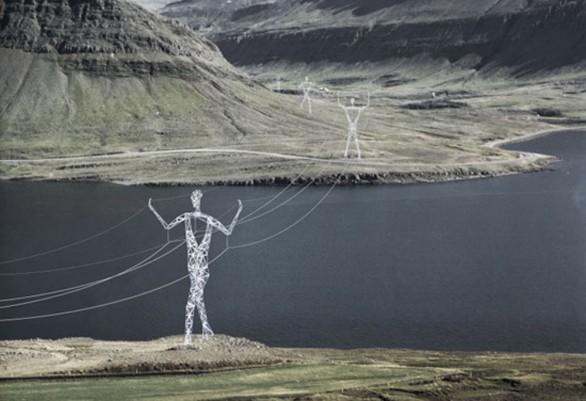 Islanda - tralicci forma umana